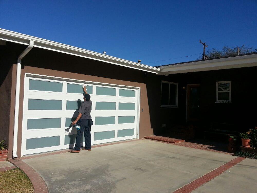 garage glass windows cleaning panels